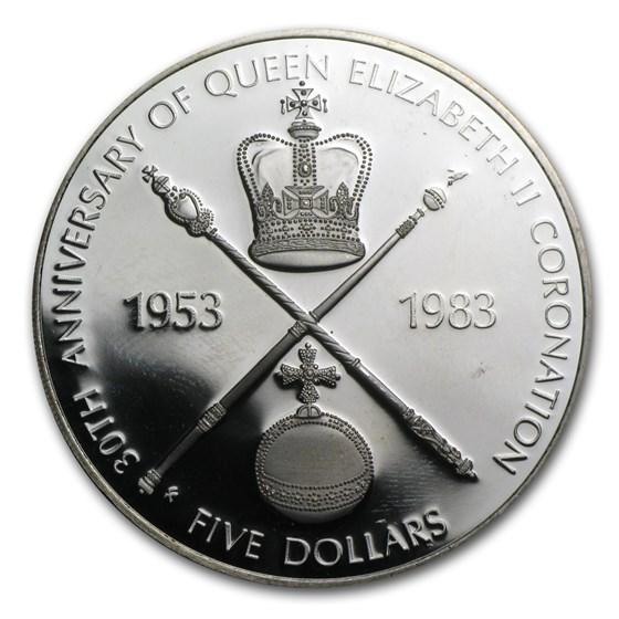 1983 Solomon Islands Silver $5 Coronation Proof