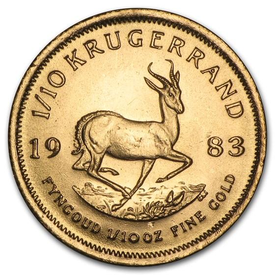 1983 South Africa 1/10 oz Gold Krugerrand