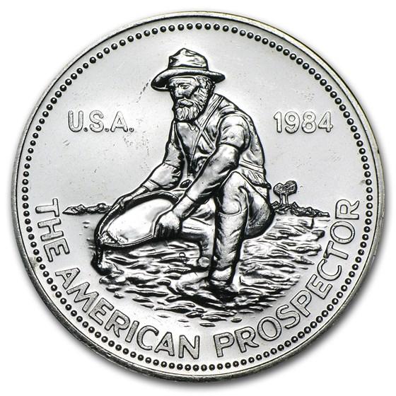 "1984 1 oz Silver Round - Engelhard Prospector (""E"" Logo Reverse)"