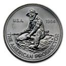 1984 1 oz Silver Round - Engelhard Prospector (Eagle Reverse)