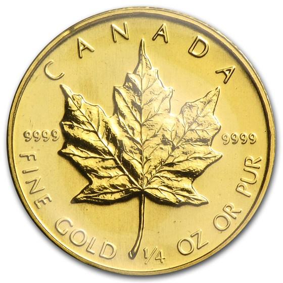 1984 Canada 1/4 oz Gold Maple Leaf BU