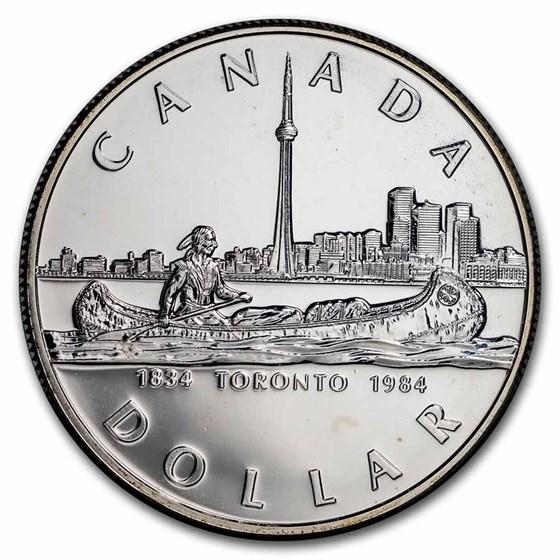 1984 Canada Silver Dollar BU (Toronto Sesquicentennial)