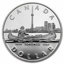 1984 Canada Silver Dollar Proof (Toronto Sesquicentennial w/OGP)