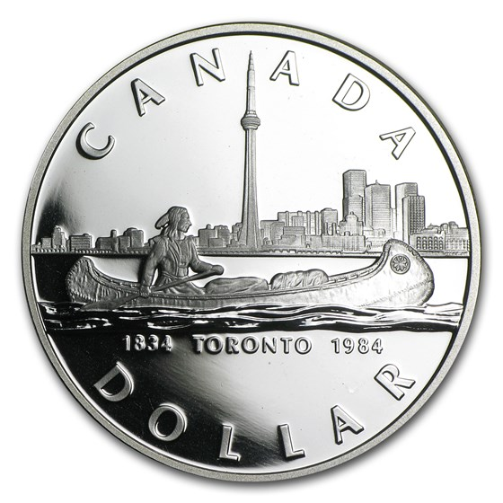1984 Canada Silver Dollar Proof (Toronto Sesquicentennial)