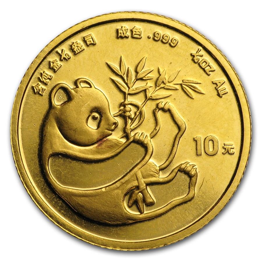 1984 China 1/10 oz Gold Panda BU (In Capsule)