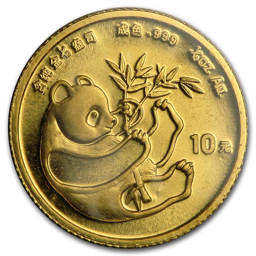 1984 China 1/10 oz Gold Panda BU (Sealed)
