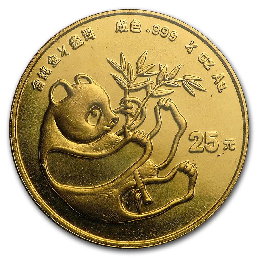 1984 China 1/4 oz Gold Panda BU (Sealed)