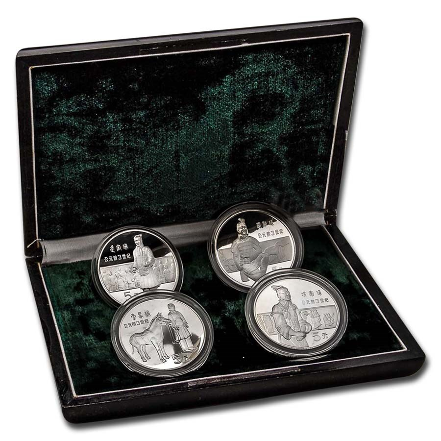 1984 China Silver 4-Coin Historical Figures Proof Set