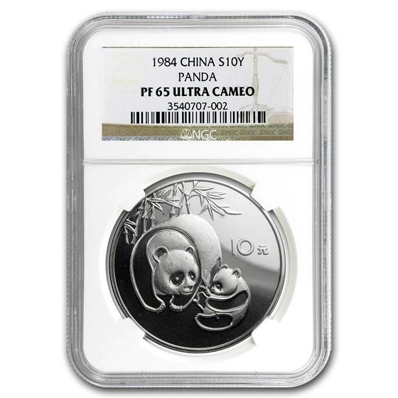 1984 China Silver Panda 10 Yuan PF-65 NGC