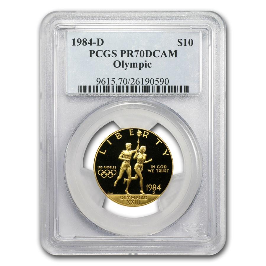 1984-D Gold $10 Commem Olympic PR-70 PCGS