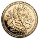 1984 Isle of Man 1 oz Proof Gold Angel