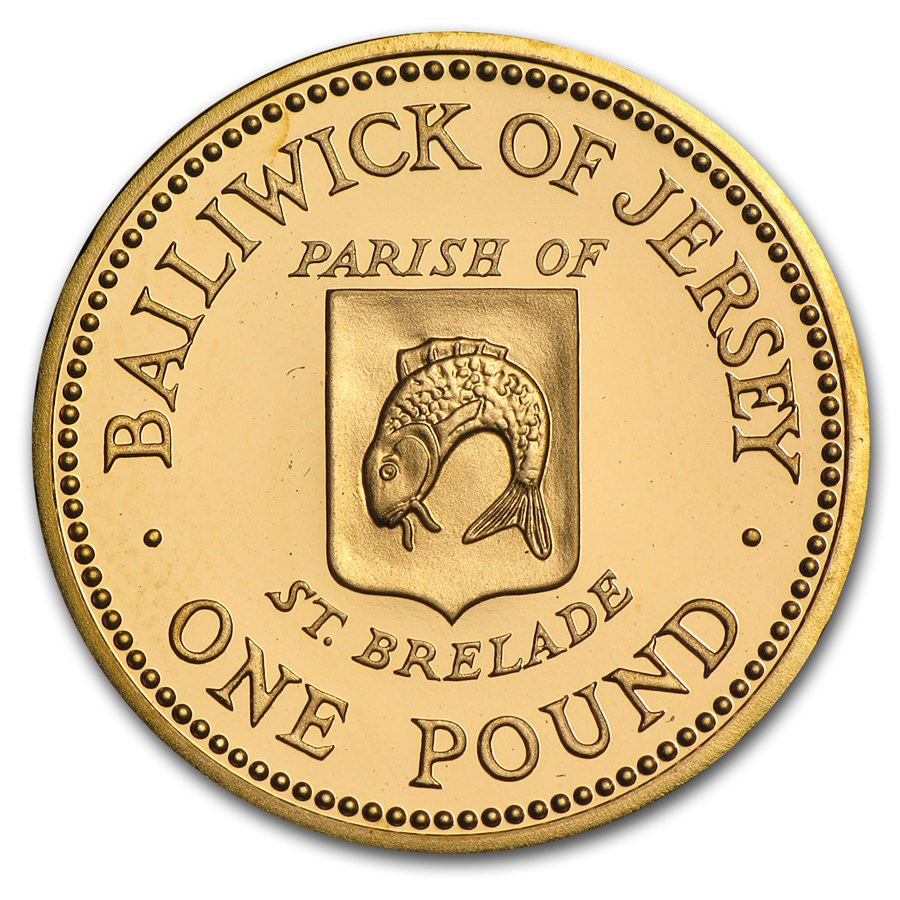 1984 Jersey Proof Gold Pound