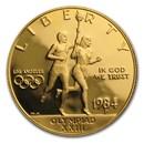1984-P Gold $10 Commem Olympic Proof (w/Box & COA)