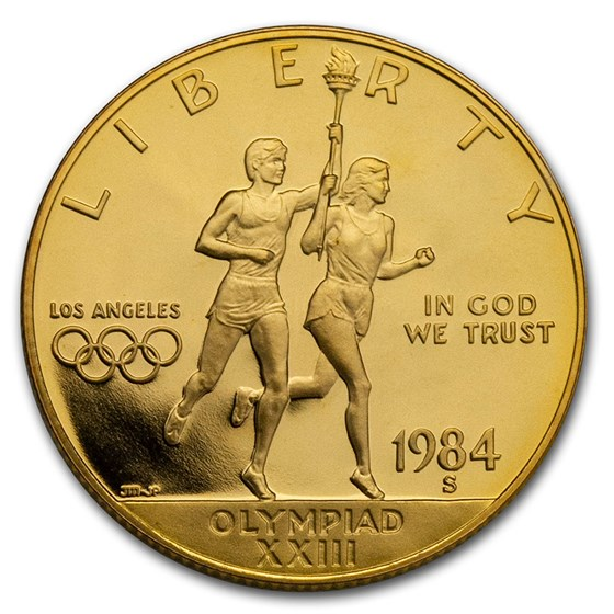 1984-S Gold $10 Commem Olympic Proof (Capsule Only)