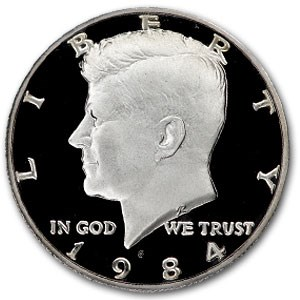 1984-S Kennedy Half Dollar Gem Proof