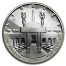 1984-S Olympic $1 Silver Commem Proof (w/Box & COA)