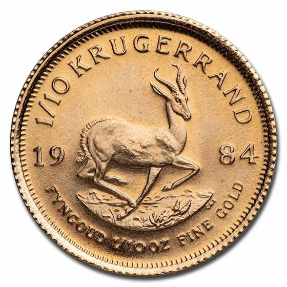 1984 South Africa 1/10 oz Gold Krugerrand