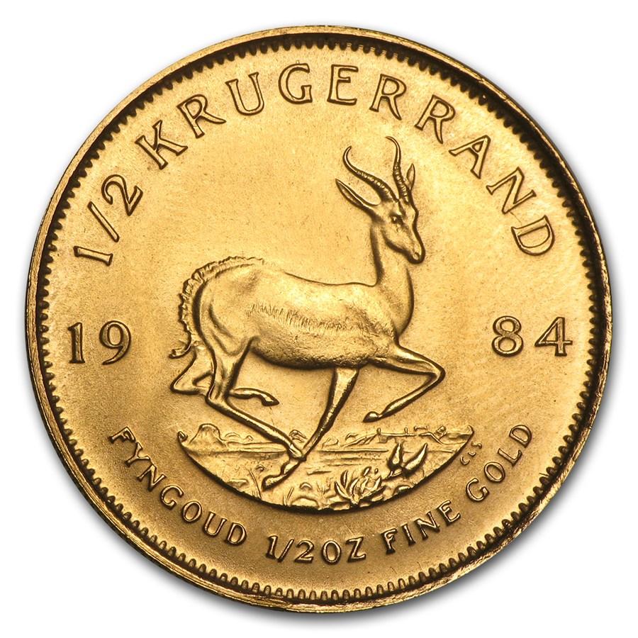 1984 South Africa 1/2 oz Gold Krugerrand