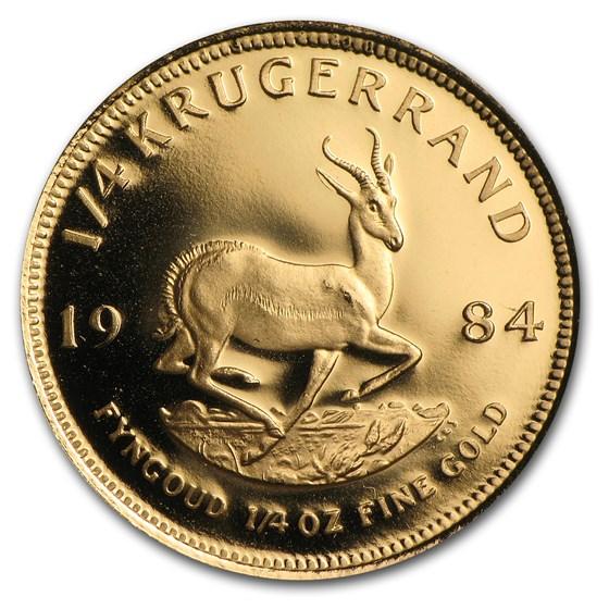 1984 South Africa 1/4 oz Proof Gold Krugerrand
