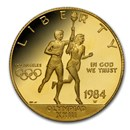 1984-W Gold $10 Commem Olympic Proof (Capsule Only)