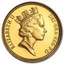 1985-1997 Great Britain Gold Sovereign Elizabeth II Proof