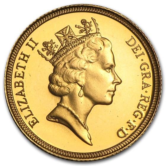 1985-1997 Great Britain Gold Sovereign Elizabeth II Proof