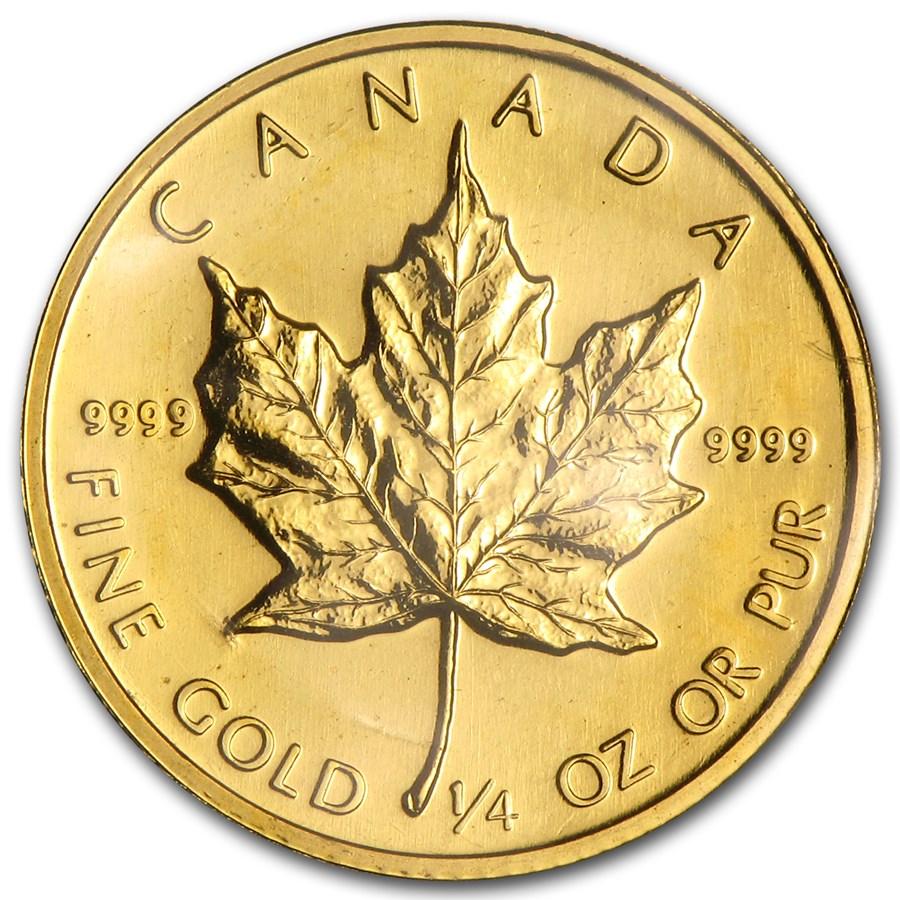 1985 Canada 1/4 oz Gold Maple Leaf BU