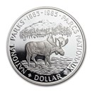 1985 Canada Silver Dollar Proof (National Parks Moose)