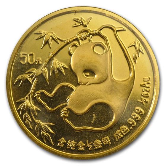 1985 China 1/2 oz Gold Panda BU (Sealed)