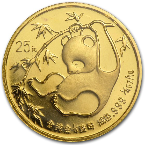 1985 China 1/4 oz Gold Panda BU (Sealed)