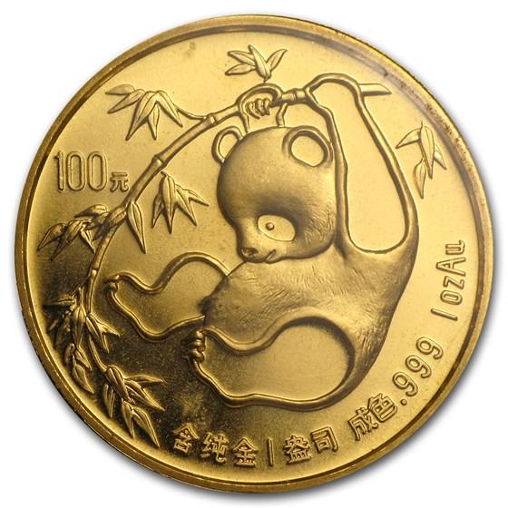 1985 China 1 oz Gold Panda BU (Sealed)