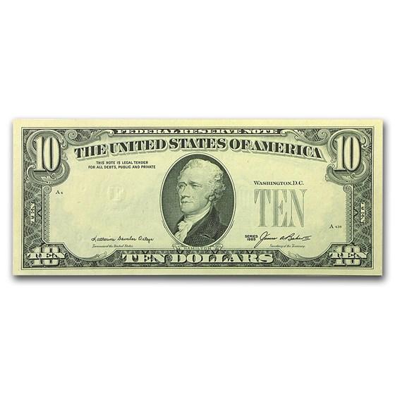 1985 (F-Atlanta) $10 FRN CU (Missing Third Printing)