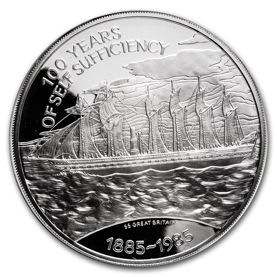 1985 Falkland Islands Silver 25 Pounds Proof (ASW 4.4607)
