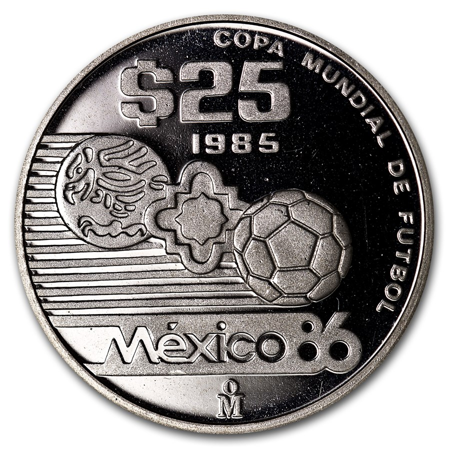 1985 Mexico Silver 1/4 oz Proof 25 Pesos