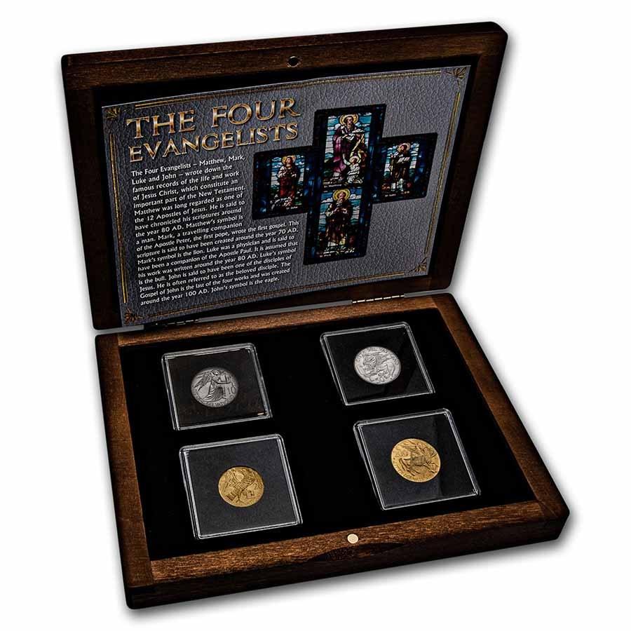 1985 Vatican City The Four Evangelists 4-Coin Set BU