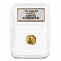 1986 1/10 oz American Gold Eagle MS-69 NGC
