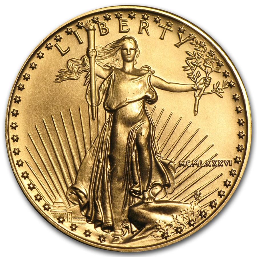 1986 1/2 oz American Gold Eagle BU (MCMLXXXVI)