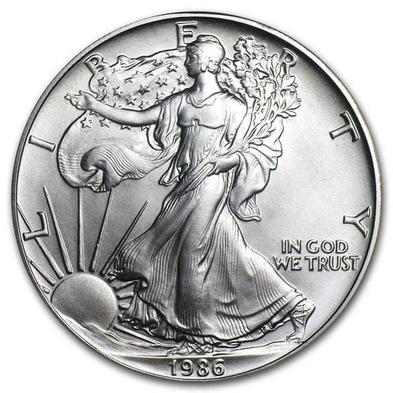 1986 1 oz American Silver Eagle BU