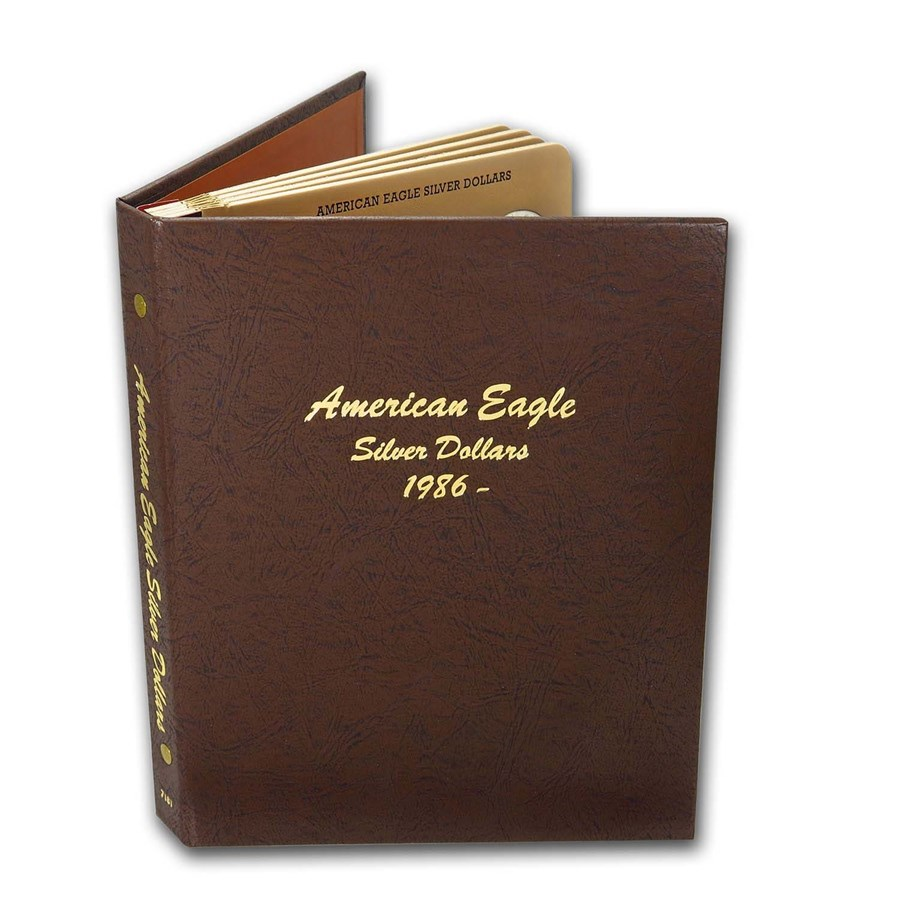 1986-2021 36-Coin American Silver Eagle Set BU (Dansco Album)