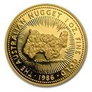 1986 Australia 1 oz Proof Gold Nugget