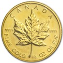 1986 Canada 1/4 oz Gold Maple Leaf BU