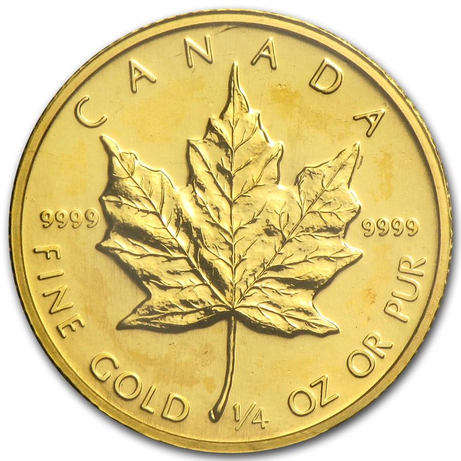 1986 Canada 1/4 oz Gold Maple Leaf BU
