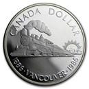 1986 Canada Silver Dollar BU (100th Anniv Transcontinental Rail)