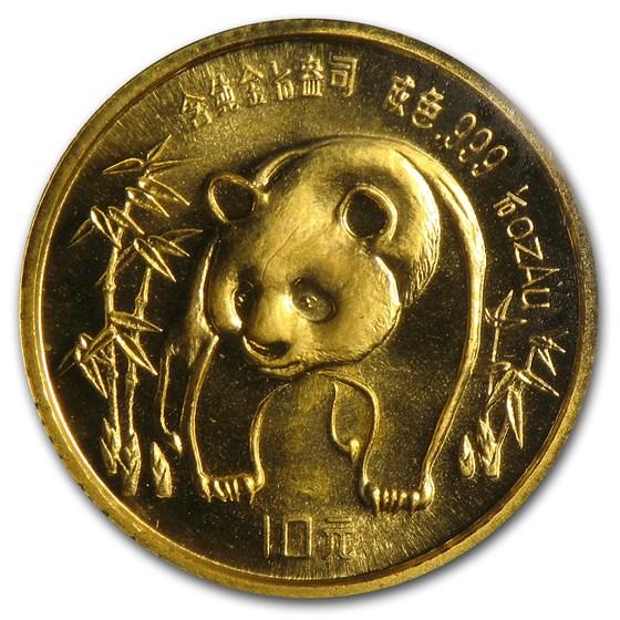 1986 China 1/10 oz Gold Panda BU (Sealed)