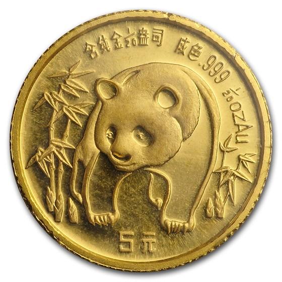 1986 China 1/20 oz Gold Panda BU (Sealed)