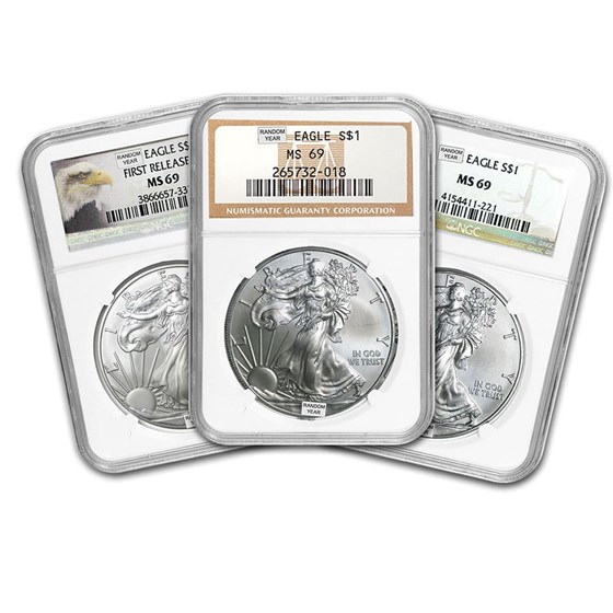 1986-Current Silver American Eagle MS-69 NGC (Random Year)