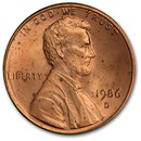 1986-D Lincoln Cent BU (Red)