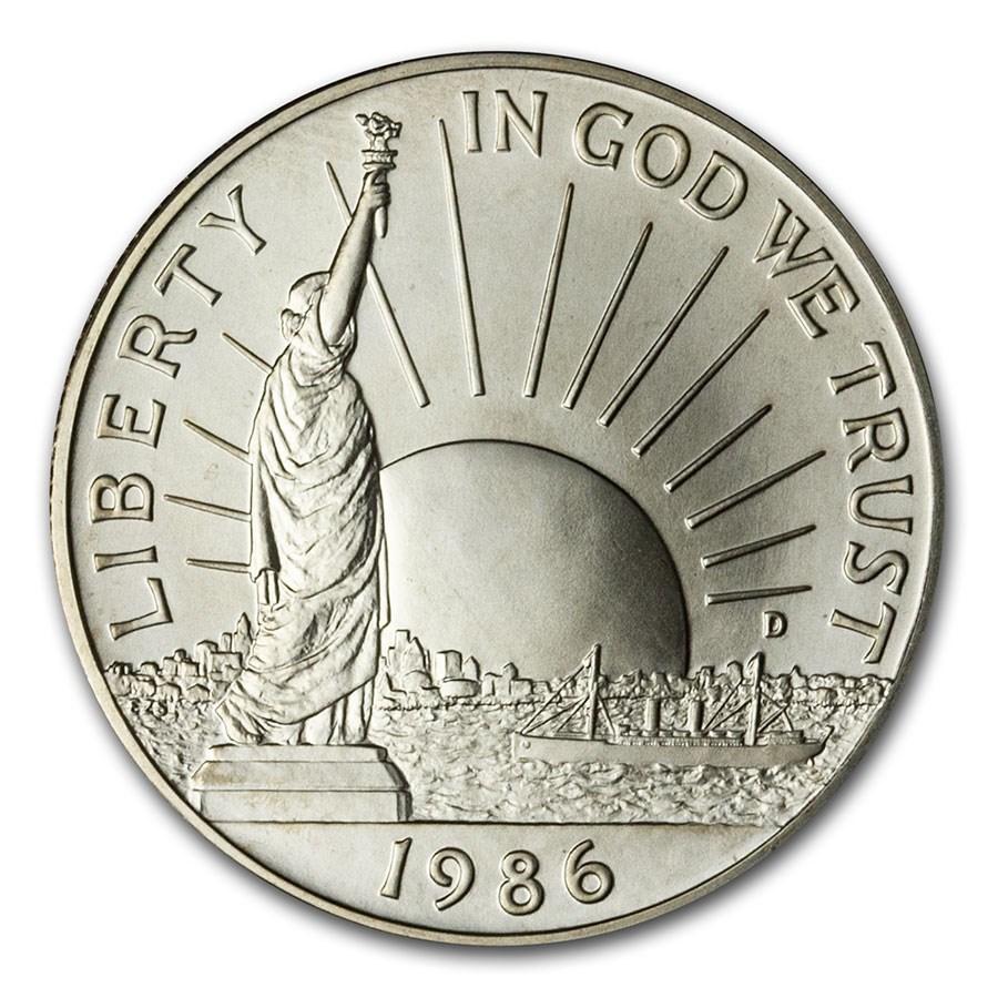 1986-D Statue of Liberty 1/2 Dollar Clad Comm BU