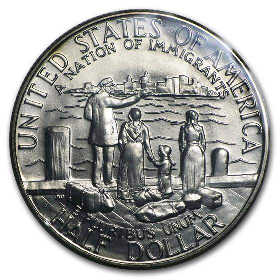 1986-D Statue of Liberty 1/2 Dollar Clad Commem BU (w/Box & COA)