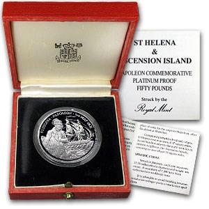 1986 France 1 oz Platinum Napoleon Proof